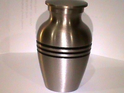 keepsake Cremation Urn classic pewter 5 cubic