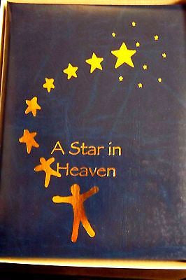 Funeral Register Book Memorial Register A Star in Heaven Blue cover