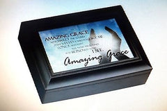 "Music Box Urn ""Amazing Grace"" Keepsake Urn - Made in U.S.A."