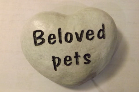 Pet Memorial River Rock Heart