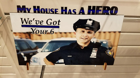 """My House Has a Hero"" custom photo plaque ~ cutout"