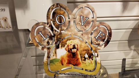 """LOVED"" custom pet photo plaque ~ cutout"