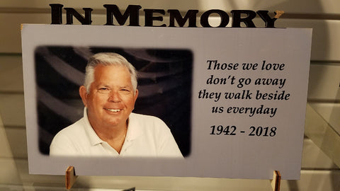 """In Memory"" custom photo plaque ~ cutout"