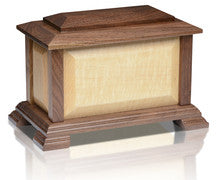 Monarch Adult Urn - Black Walnut/Tiger Walnut - Made in U.S.A.