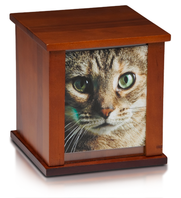Birch Wood Photo Frame Urn in Cherry