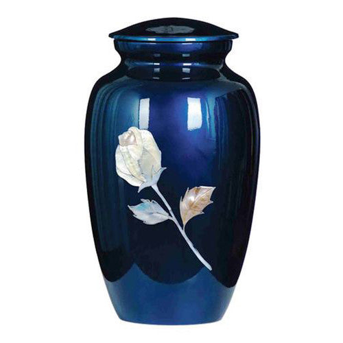 Mother of Pearl Rose Adult Urn