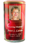 03 Beach with Palm Trees Memorial Candle with Photo