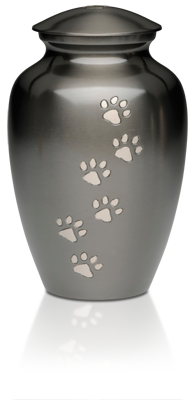Paws To Heaven Slate finish Brass Urn