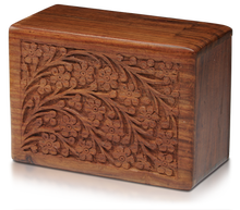 """Tree of Life"" Rosewood Cremation Urn"