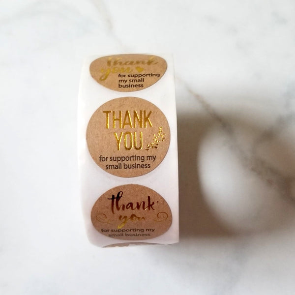 Thank You Stickers | 1 Inch | 500 Piece Roll