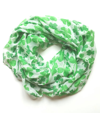 Lucky Green Shamrock Scarves!