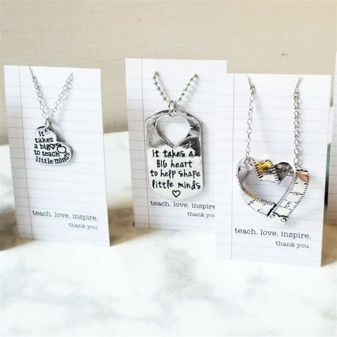 Teacher Necklace With Card