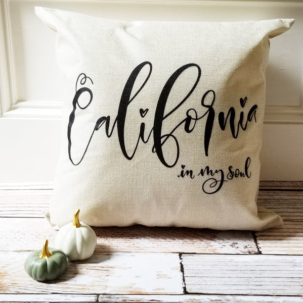 Custom State Love Pillow Cover