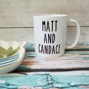 Personalized Farmhouse Name Mugs - Skinny Type