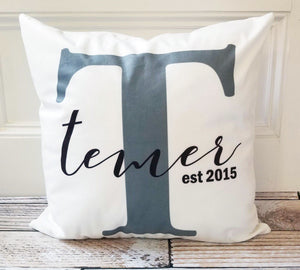 Established White Microfiber Personalized Pillow Covers
