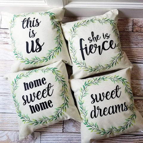 Summer Wreath Pillow Covers