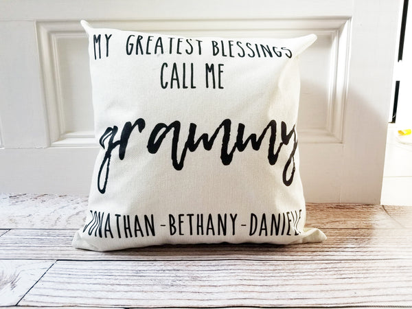 Grandma/Grammy/Mimi Pillow Covers