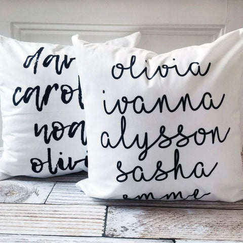 White Custom Personalized Pillow Covers