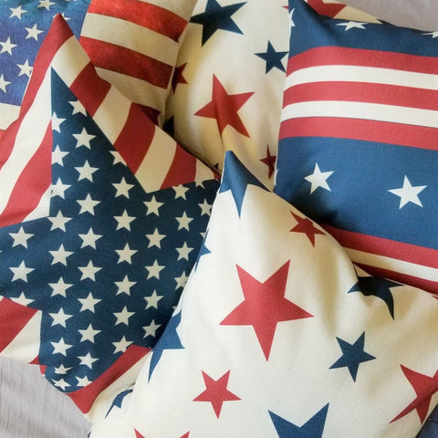 Red, White And Blue Pillow Covers