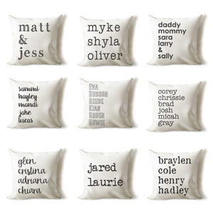 Farmhouse Personalized Pillow Cover