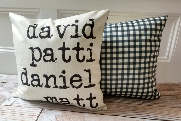 Personalized Plaid Cover