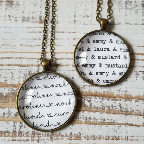 Personalized Names All Over Necklaces