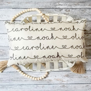"Personalized Names Farmhouse Covers - 12"" x 18"""