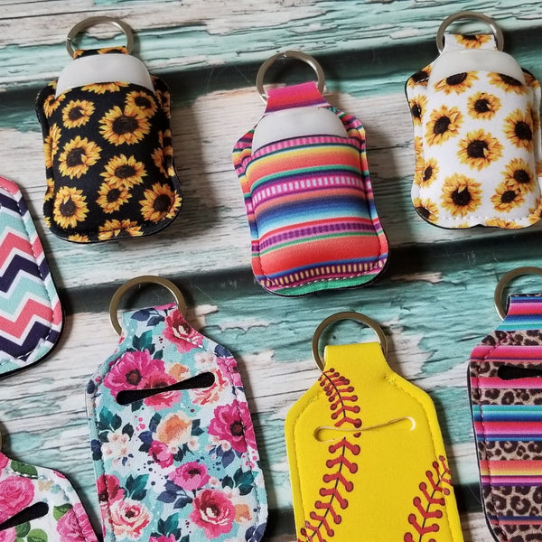 Hand Sanitizer Holder Keychains