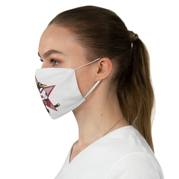 Russian Penguins Fabric Face Mask