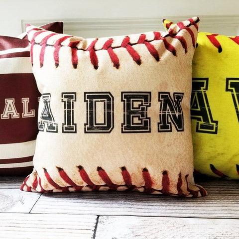 Personalized Ball Pillow Cover | 5 Sports