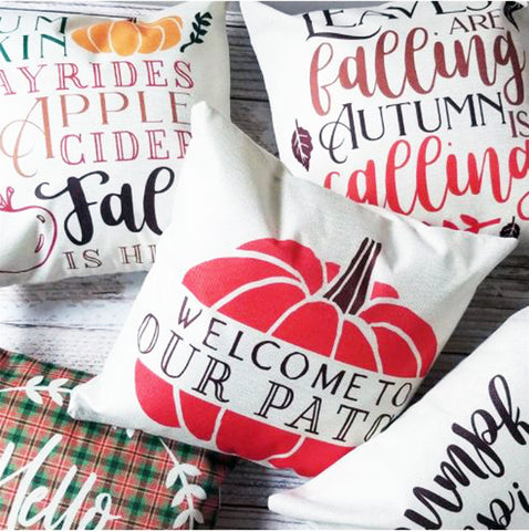 Fall Pillow Cover - Pick Your Finish!