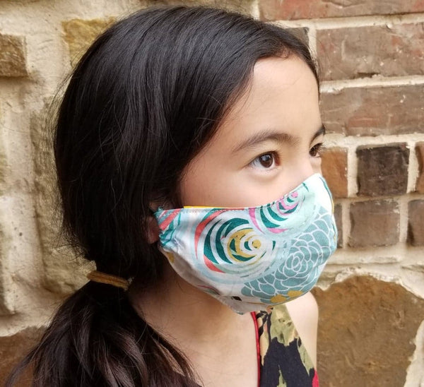 Rainbow/Rain Reversible Face Mask