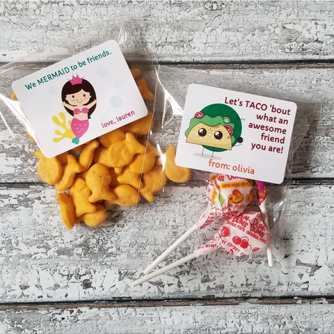 Custom Valentine's Stickers And Baggies