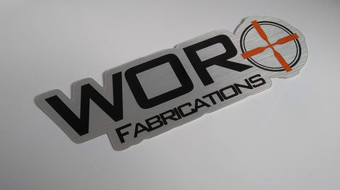 "8"" WOR FABRICATIONS STICKER"
