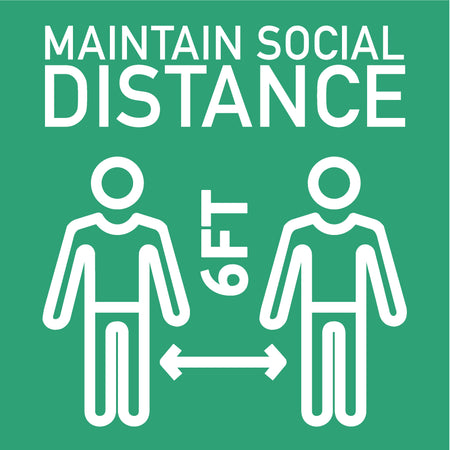 Maintain Social Distance Decal Sticker