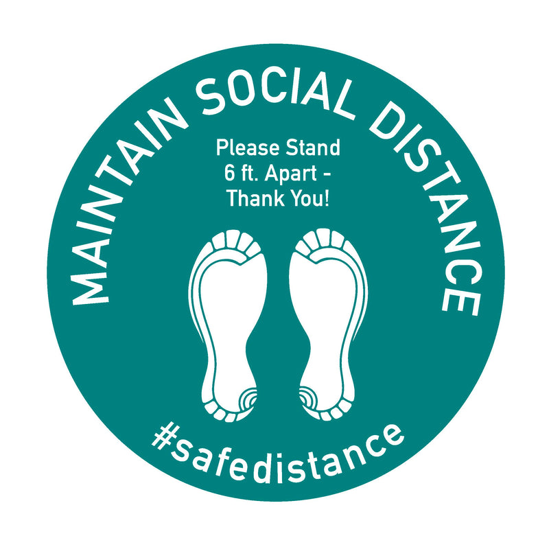 Social Safe Distancing Decals & Important Health Information Signs