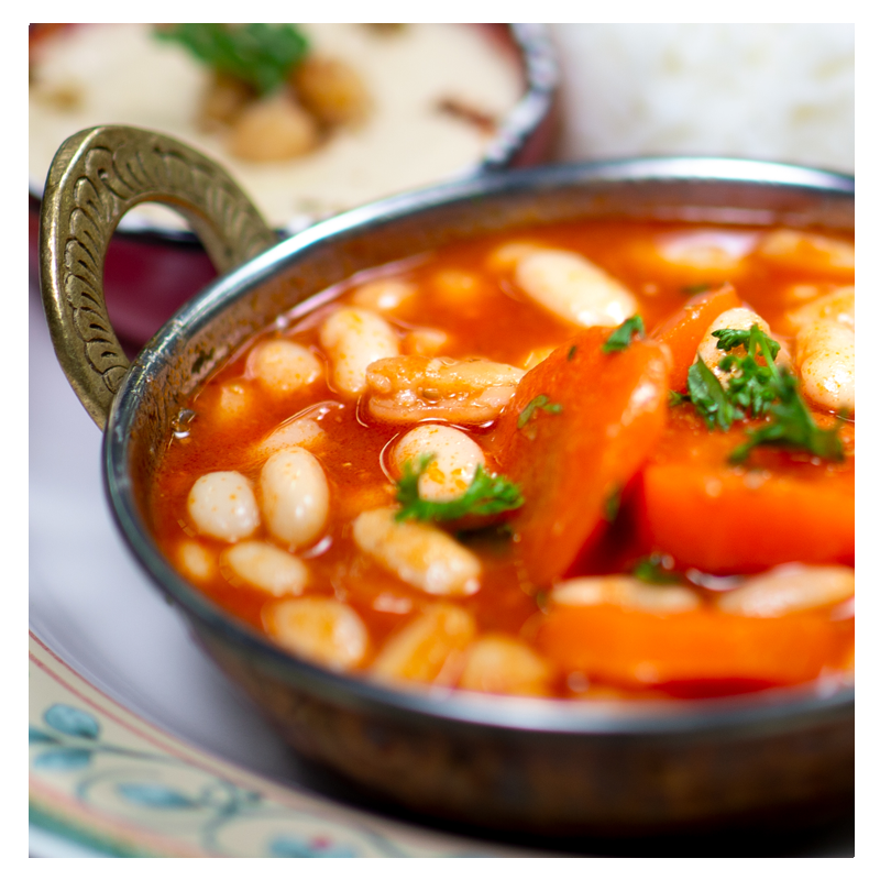 White Bean and Carrot Stew Meal (vegan, gluten free)