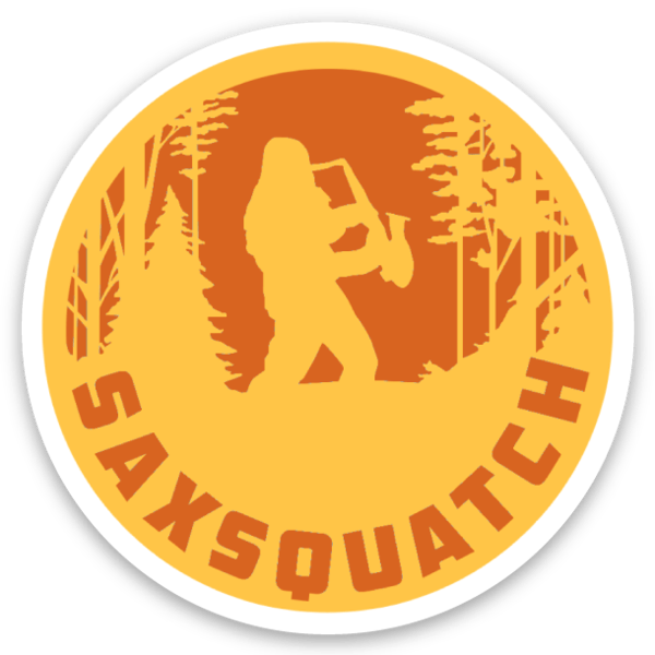 Saxsquatch Sticker