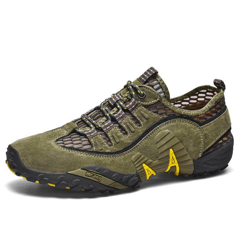 Plus Size Men's Outdoor Hollow Casual Shoes Mesh Breathable Hiking Shoes