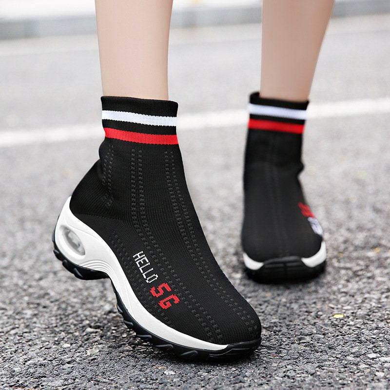 Women's Air Cushion Sports Thick-soled Socks Sneakers Boots