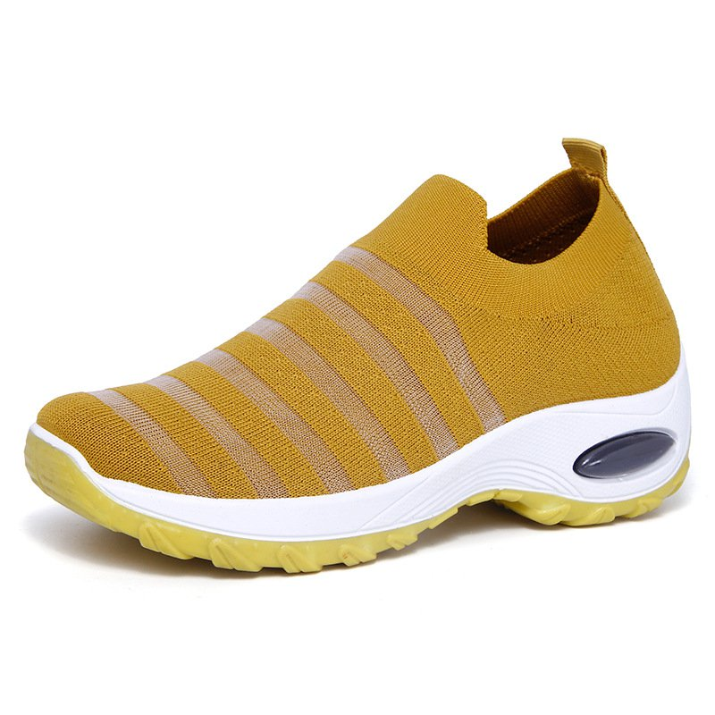 Breathable Soft Sole Comfortable Cushion Sneakers Walking Shoes for Women