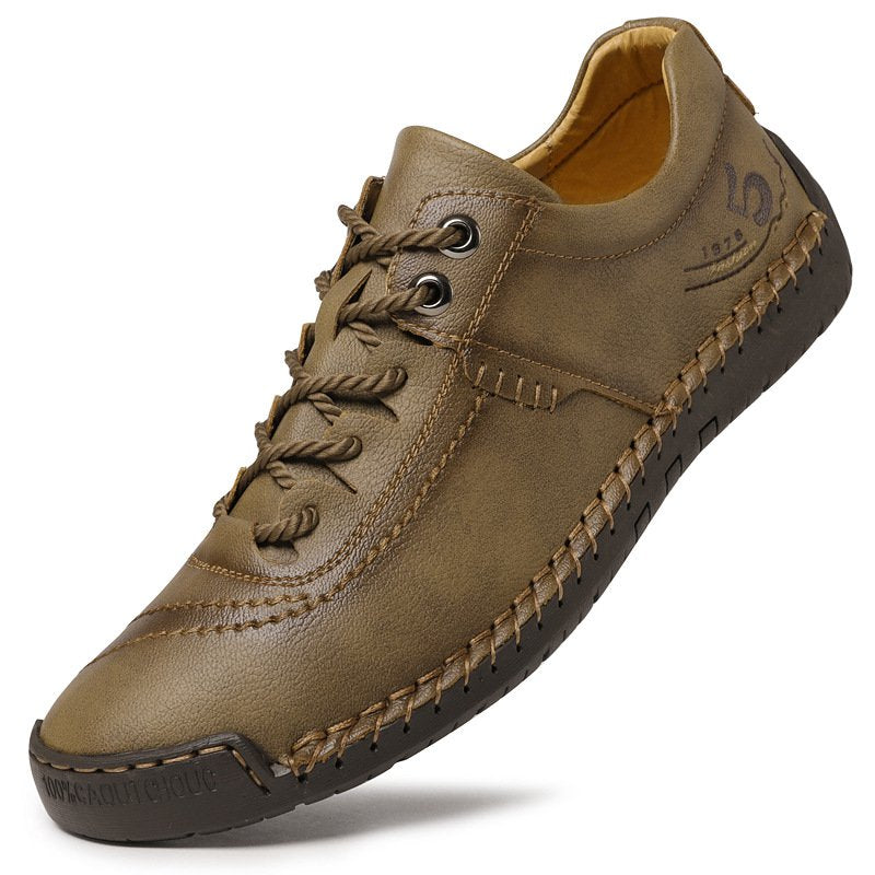 Men Microfiber Leather Casual Shoes Lace Up Shoes