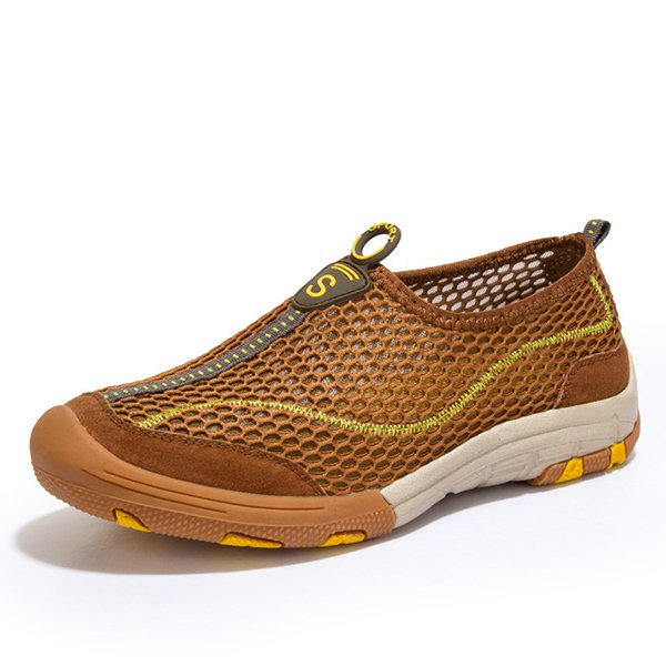 Men Sports Breathable Mesh Shoes Outdoor Hiking Water Shoes
