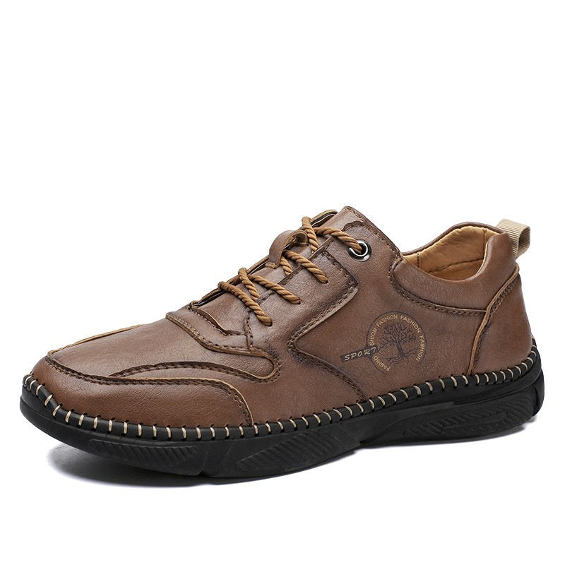 Men Handmade Microfiber Leather Casual Shoes
