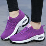 Women Athletic Lace Up Daily Platform Sneakers Walking Shoes
