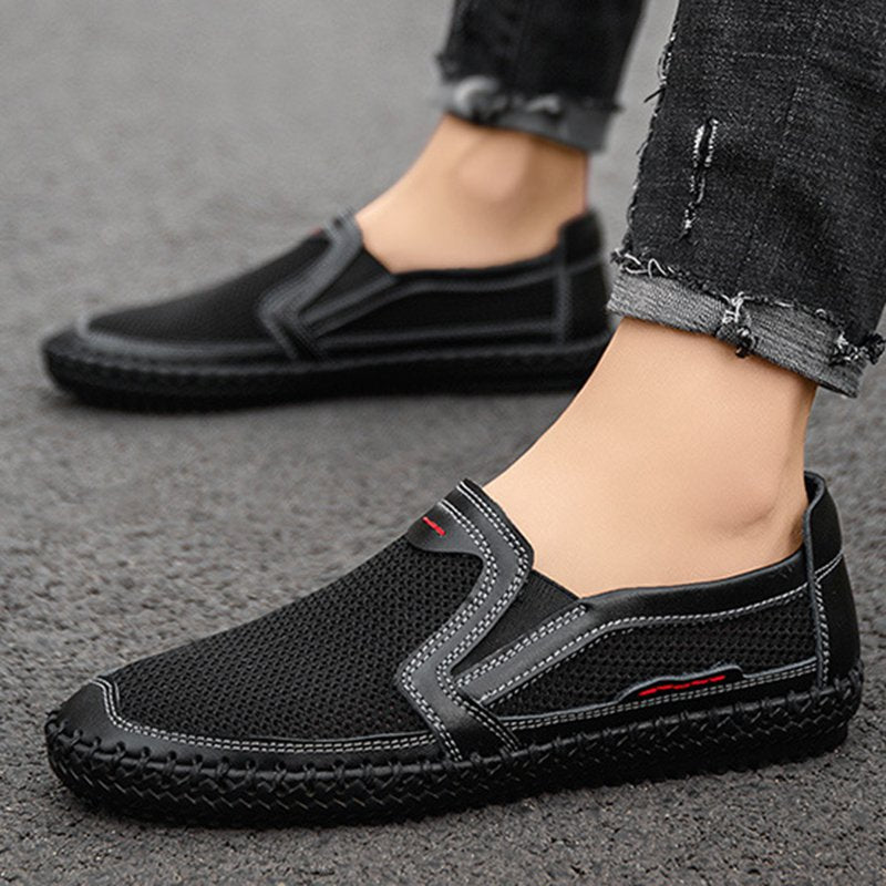 Men's Summer Mesh Breathable Sports Hollow Flat Shoes