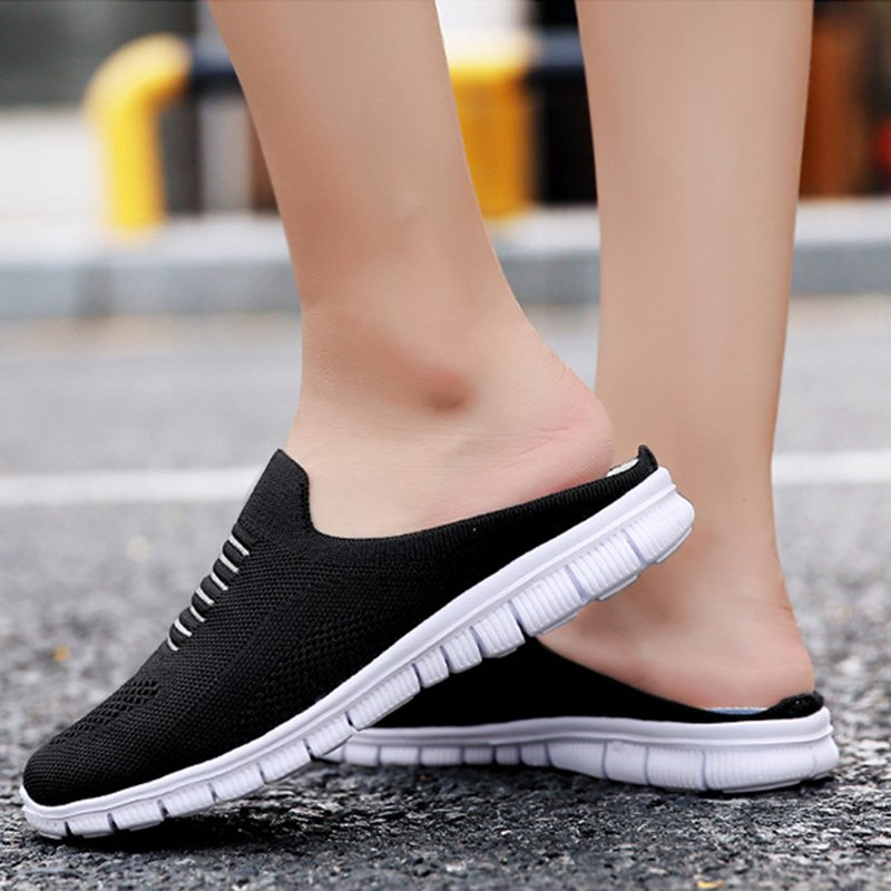 Women's Breathable Mesh Closed Toe Casual Flat Lazy Shoes