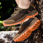 Men's Mesh Hollow Mesh Breathable Outdoor Hiking Shoes