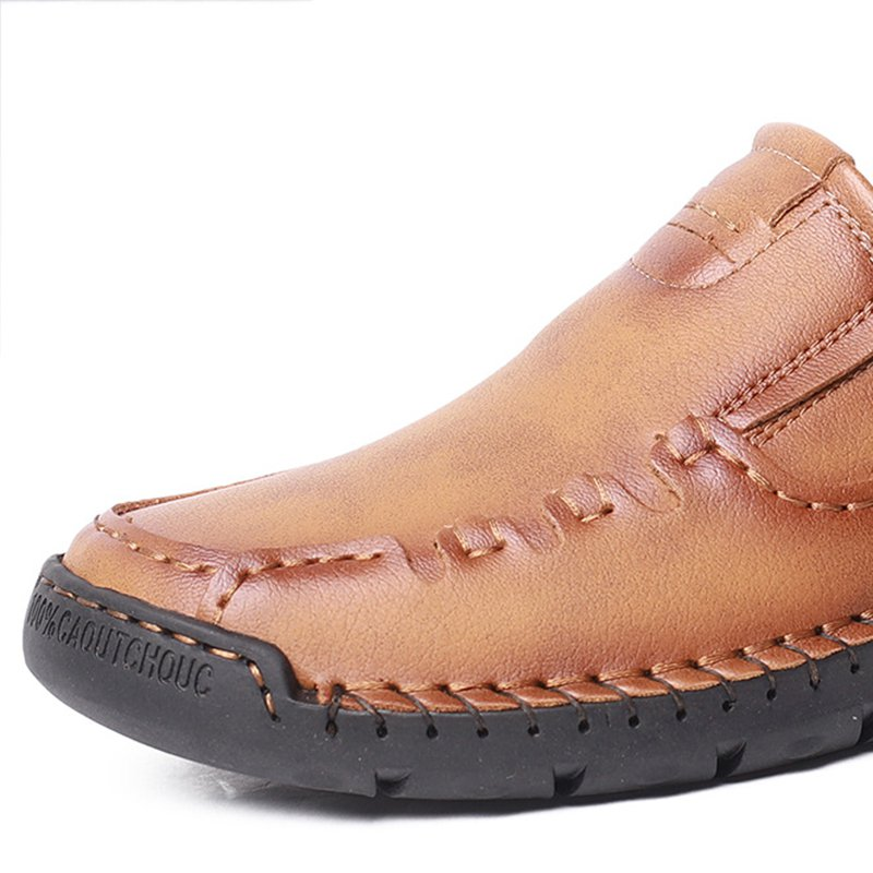 Men's Casual Hand-stitched Cowhide Leather Shoes