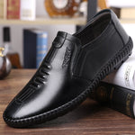 Men Comfy Leather Soft Sole Casual Driving Shoes